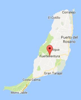 Map of Fuerteventura
