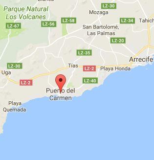 Map of Puerto del Carmen