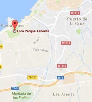 Loro Parque map