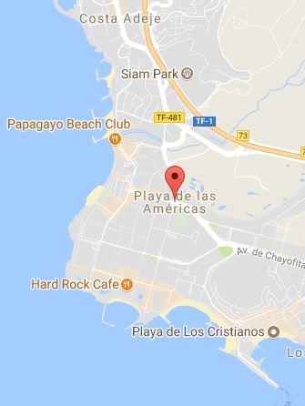 Playa de las Américas Map