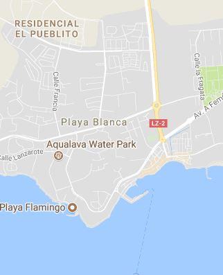 Map of Playa Blanca