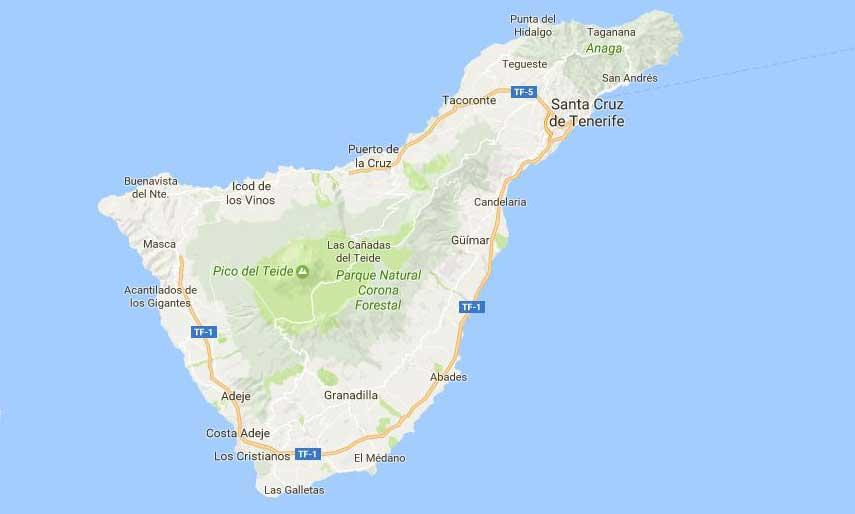 Map de Tenerife