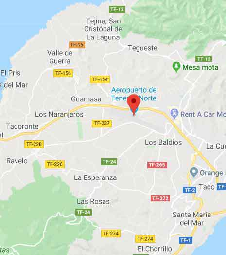Tenerife North Airport Map